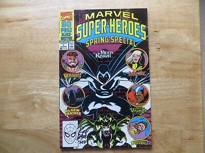 1990 Marvel Super-Heroes Spring Special # 1 80 Pages Signed By Rod Ramos, Poa