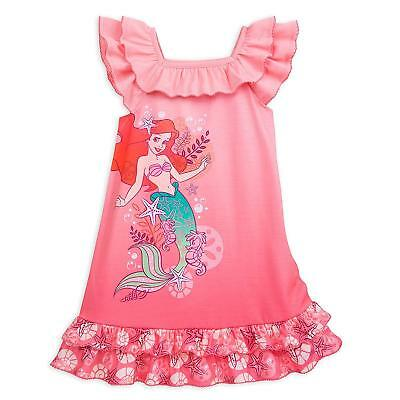 6c695fa7f1 Disney Store Princess The Little Mermaid Ariel Nightgown Pajama Girl Size  5 6