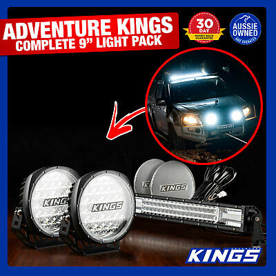 "9"" Driving Light Outdoor Spot Work+ Kings LED Light Bar 22"" 4WD Truck Car 4WD"