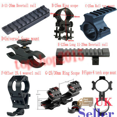 UK Tactical Hunting Scope Mount Adapter 20mm Weaver Picatinny Rail Airsoft