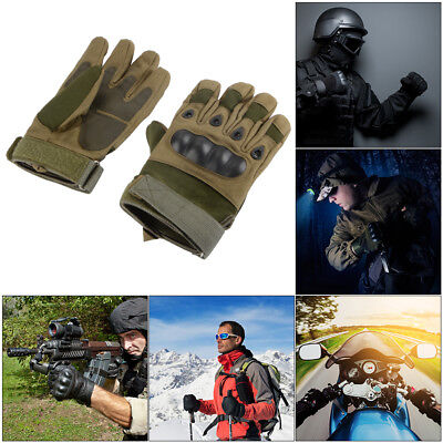 Knuckle Padded Full Finger Protective Gloves for Shooting Motorcycling TH1042