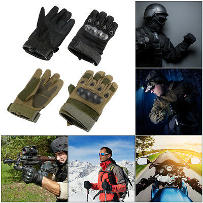 Knuckle Padded Full Finger Gloves for Outdoors Sport Camping Hunting Climbing