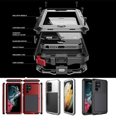 Metal Shockproof Aluminum Heavy Duty Case Cover F Samsung Galaxy S10 S9 Note 9/8