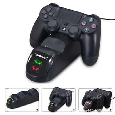 PlayStation PS4 Controller LED Dual USB Charger Dock Station Fast Charging UK