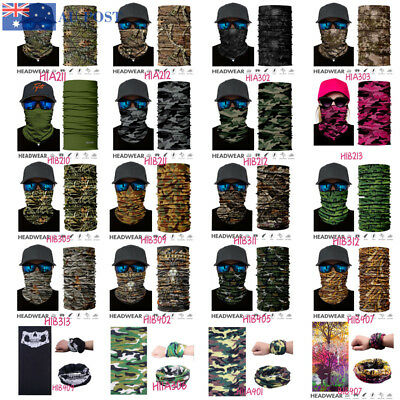 New Face Mask Fishing Scarf Neck Gaiter Sun Mask Headwear Tube Scarf 21 Style