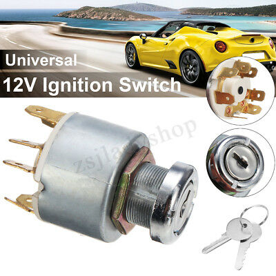 12V Universal Ignition Lock Key Switch Set For Lucas SPB501 Car Boat Motorcycle