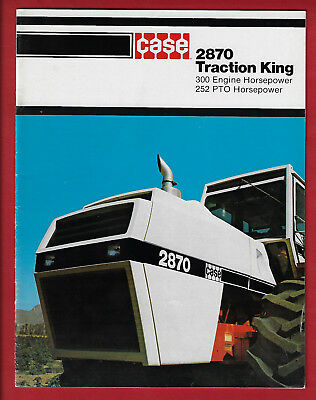 Case 4Wd 2870 Tractor 24 Page Brochure
