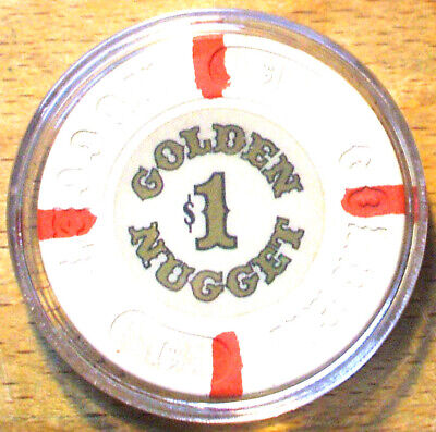 $1. Golden Nugget Casino Chip - 1980 - Atlantic City, New Jersey