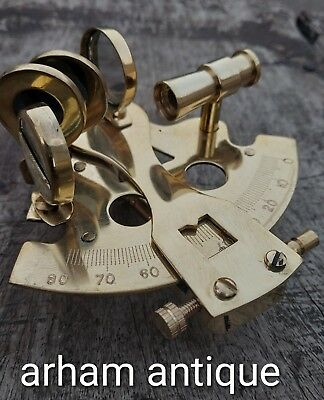 Nautical Solid Brass Working Sextant Vintage Navigation Ship Instrument Sextant