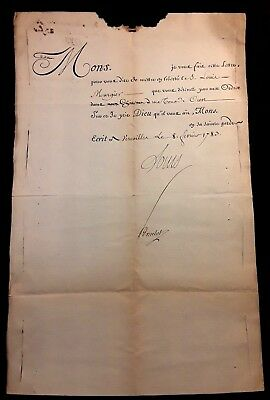 King Louis Xvi Signature – Letter Requesting Release From The Prison - 1783