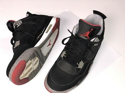 "another chance 319d4 8b117 Air Jordan 4 Retro "" Bred 2012 Release "" Black Cement Grey - Fire Red"
