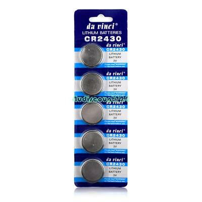 CR2430 BR2430 ECR2430 KL2430 KCR2430 3V Button Coin Cell Battery Bulk Lot 5 Pcs