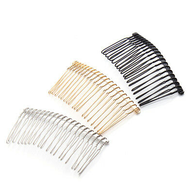 6pcs Blank Metal Hair Clips Side Comb 20 Teeth DIY Bridal Hair Accessories