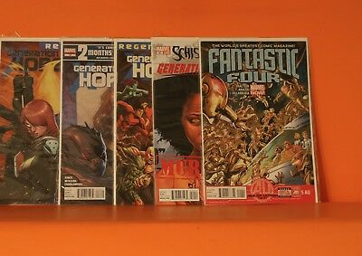 Bargain Marvel Mixed Comic Lot X 10 With Bags & Boards - See Both Photos