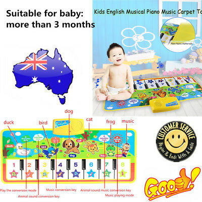 Kids English Musical Piano Music Carpet Play Mat Educational Electronic Toy EC