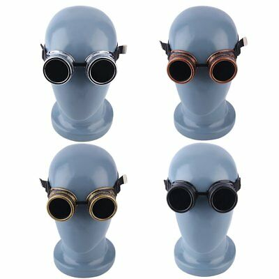 Cyber Goggles Steampunk Glasses Vintage Retro Welding Punk Gothic Victorian O3