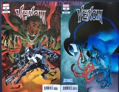Venom #2 Sam Keith 1:25 Variant & Wanted Comix Tomb Of Dracula #23 Homage Set 1
