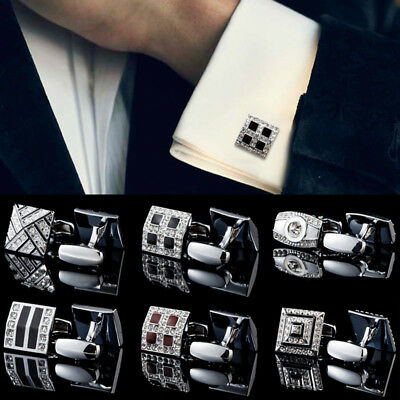 Men's Cufflinks Stainless Steel MENS Wedding Party Gift Shirt CUFF LINKS