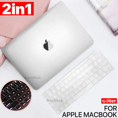"NEW 2018 MacBook Air 13"" A1932 Frosted Clear Hard Case Shell Keyboard Cover OZ"