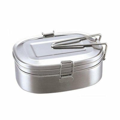 Portable 2layer Stainless Steel Lunch Box Picnic Bento Food Container Storage IU