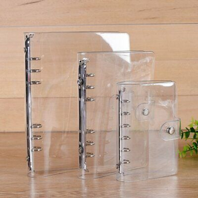 Unique Transparent Loose Leaf Ring Binder Inner Core Spiral Cover With 6 Hole XU
