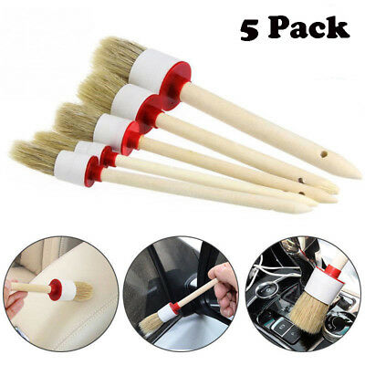 5 Pcs Soft Detailing Brushes for Car Cleaning Vents, Dash, Trim, Seats, Wheels