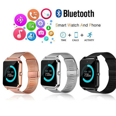 Bluetooth Smart Watch GSM SIM Phone Mate Z60 Stainless Steel For IOS Android Lg