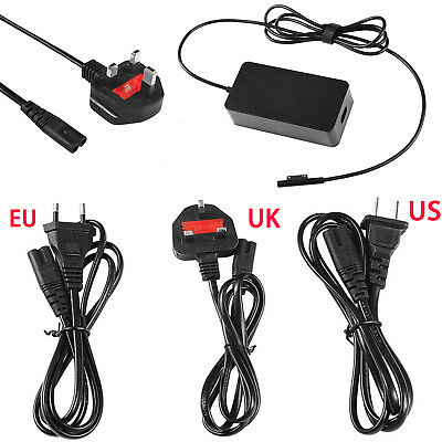 Black Intelligent AC Charger Adapter for Microsoft Surface Pro 5 Pro 4 Pro 3 15V