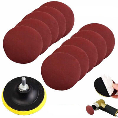 10pc 100mm 4 Inch Sanding Disc Sandpaper 1000 Grit + Drill Adapter + Backing Pad