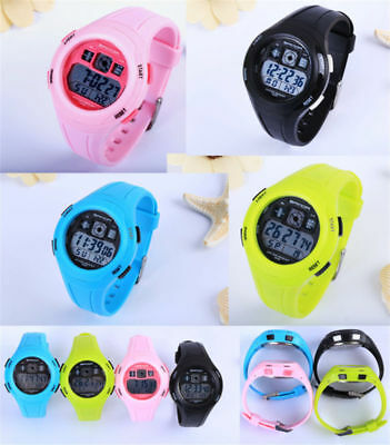 Children Boys Girls Sports Electronic Watch Multifunction Wristwatch Kids Gift