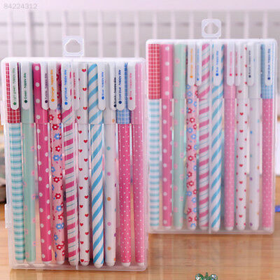 10pcs/lot Office School Stationery 0.38mm Nice Gel Pens Colorful Student Gift