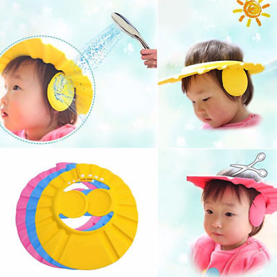 For Shield Shampoo Ear Baby Cap Shower Bathing Kids Adjustable Hair Hat Water