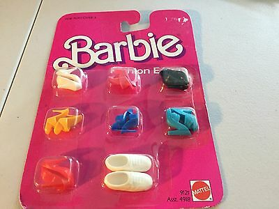 Barbie Shoes Fashion Extras 8 Pairs Of Shoes In Package Mattel 1984