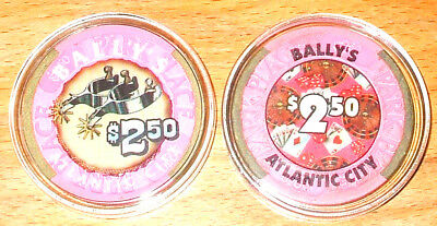 $2.50 Bally's Park Place CASINO CHIP - 1979 - ATLANTIC CITY, New Jersey - Spurs