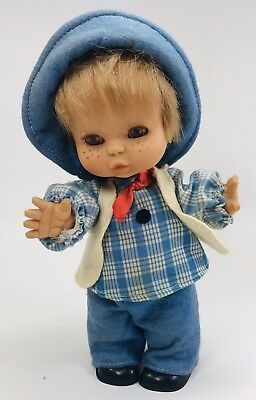 Vintage Famosa Spain Vinyl Baby Doll Eyes Move 17 Inch With Vintage