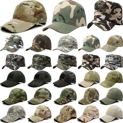 Mens Camouflage Military Adjustable Hat Camo Hunting Fishing Army Baseball Cap Z