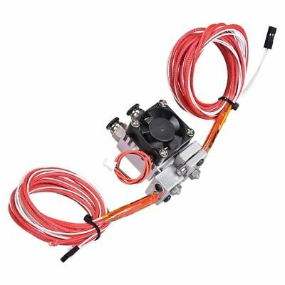 Dual Heads Extruder Hotend Kit For 3D Printer Fan Color-Filament NTC 100 K New