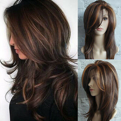 Sexy Women's Fashion Wavy Curly Long Hair Full Wigs Cosplay Party Wig 65cm Hot Z