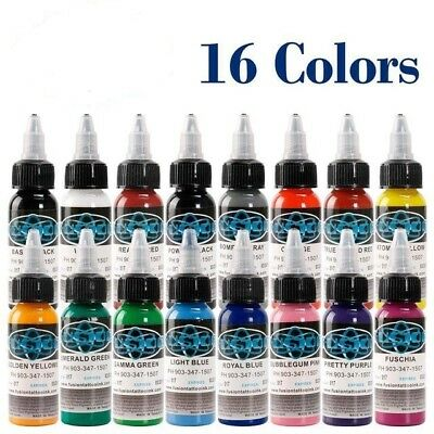 Fusion Tattoo Ink 16 Colors Set 1 Oz 30ml/bottle Pigment Kit 3d Makeup Beauty