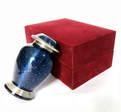 Urn Brass cremation keepsake ashes memorials perfect Miniature human funeral