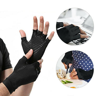 Unisex Copper Compression Arthritis Gloves Rapid Recovery Pain Relief Mittens