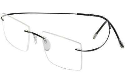 93500a143f Silhouette Eyeglasses TMA Must Collection Chassis 5515 9040 Black Optical  Frame