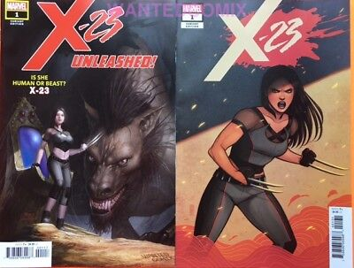 X-23 #1 In Hyuk Lee Wanted Comix Variant Cover & 1:25 Bartel Comic Lot Set Laura