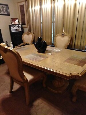 Solid Oak Dining Table, Chairs and Matching China Cabinet