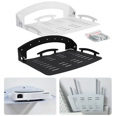 Foldable DVD Wall Mount Bracket Under TV Shelf DVR Cable Box Game Console Holder