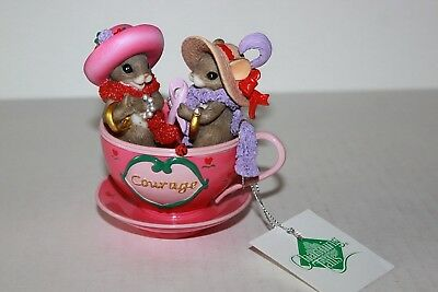 Charming Tails Teacups Of Hope A Gift Of Courage Mice In Teacup Figure