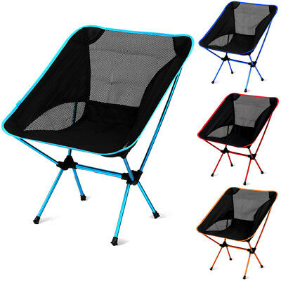 Folding Outdoor Chair Camping Seat Lawn Chairs With Bag Breathable Net Chair