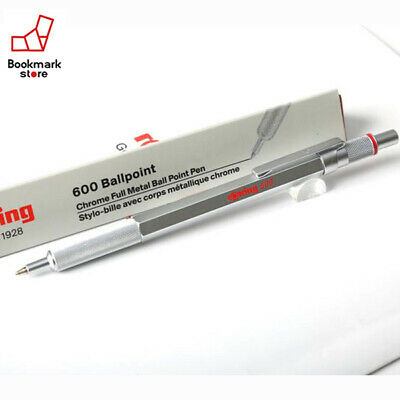 "NEW"" rOtring 600 Ballpoint Pen Silver Metal body For Professional from Japan F/S"