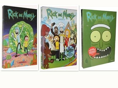 Rick and Morty: The Complete Series Season 1-3 (6-Disc DVD Box Set) New Sealed