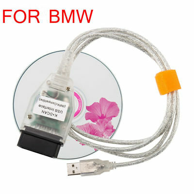 For BMW K+DCAN OBD2 USB Cable FTDI FT232RQ + BMW Tools INPA EDIABAS NCS EXPERT W